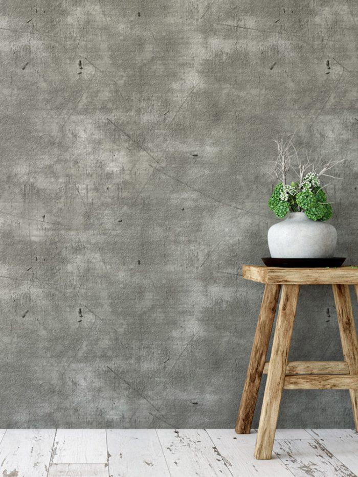 Papel de parede concreto aparente efeito usinado