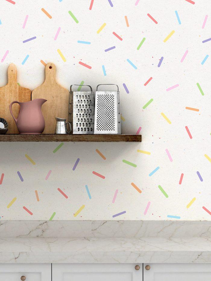 Papel de parede granulado colorido