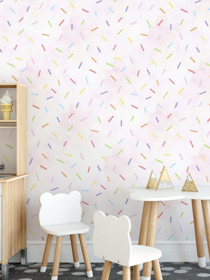 Papel de parede granulado colorido rosa