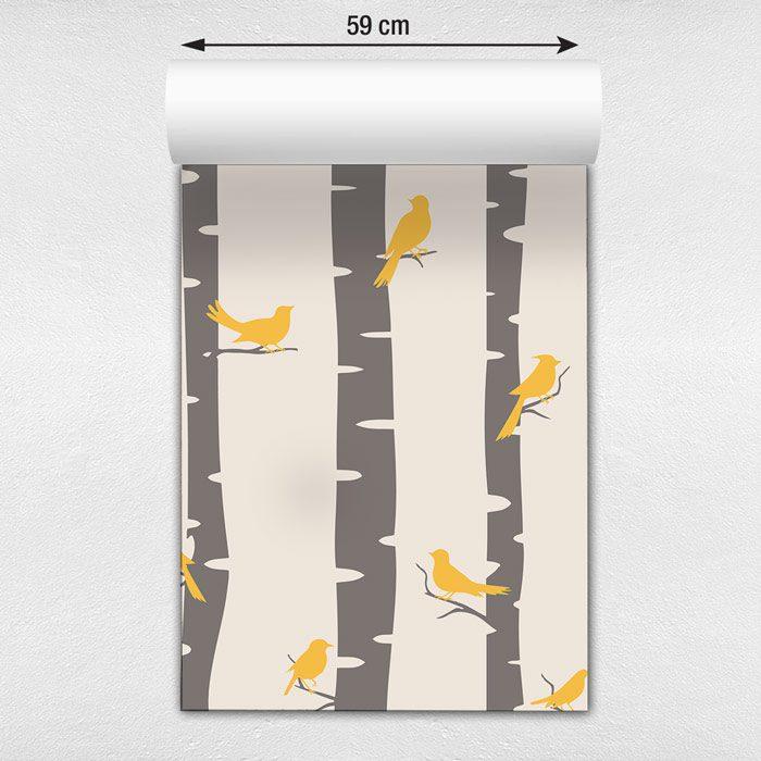 Papel de parede passarinhos nas árvores