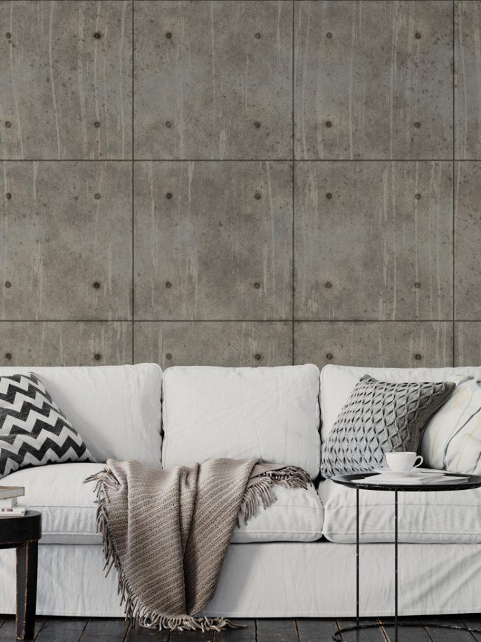 Papel de parede industrial placas de concreto