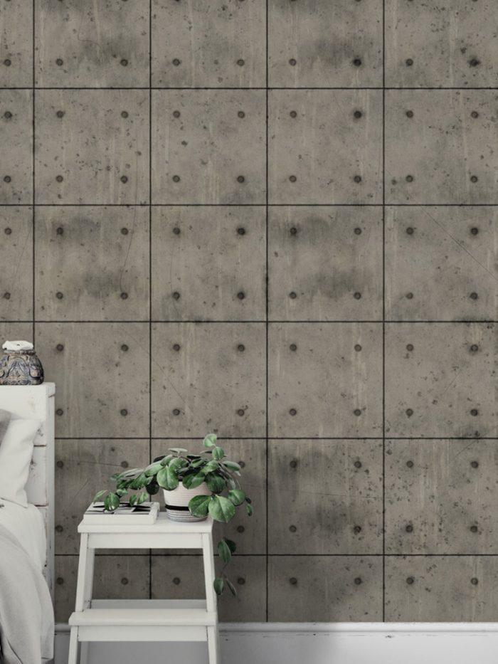 Papel de parede placas de concreto a vista médias